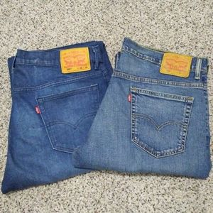 Bundle Of 2 Levi's Mens 569 Loose Straight Jean's
